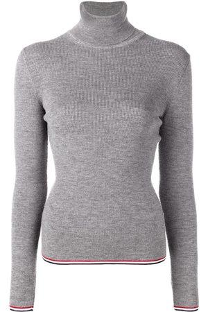 Thom Browne Mujer Cuello alto - Jersey de canalé con cuello vuelto