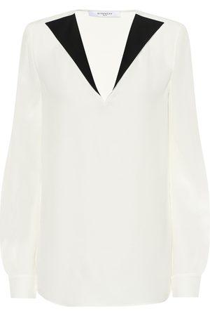 Givenchy Blusa de crepé de seda