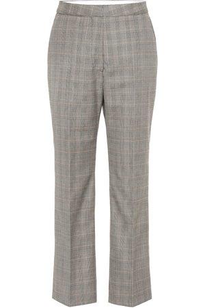 Stella McCartney Pantalones de tiro alto de lana