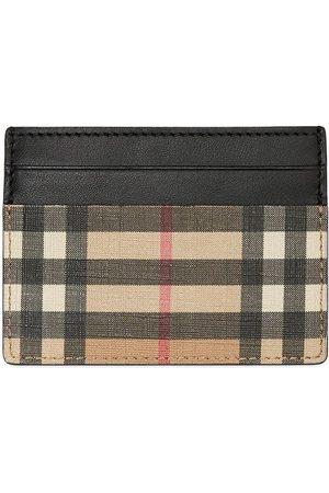 acc9b03ed Cartera de cuadros London. Burberry Vintage Check E-canvas and Leather Card  Case