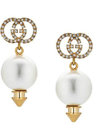 Gucci Pendientes con GG y perlas artificiales