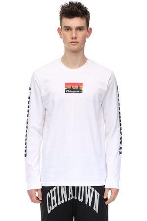 Chinatown Market | Hombre Camiseta De Algodón Estampada Con Mangas Largas S