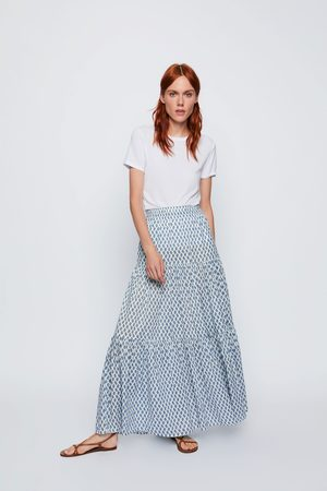 Zara Falda larga estampada