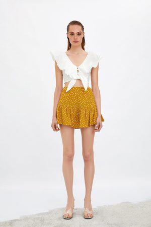 Zara Falda short estampado