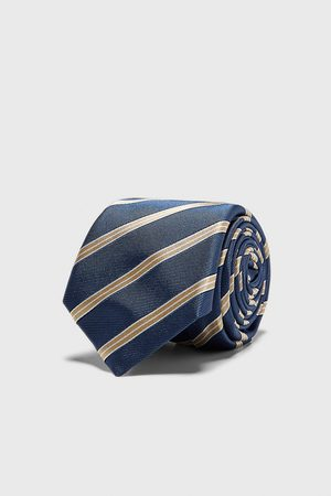 Zara Hombre Corbatas y corbatín - Corbata ancha jacquard rayas