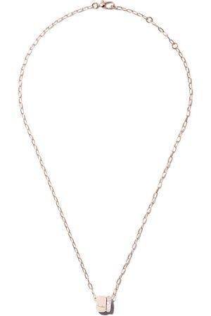 Pomellato Collar Iconica con cadena y diamantes en oro rosa 18kt