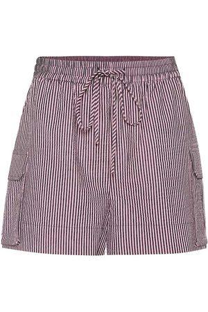 Ganni Shorts de sirsaca de rayas
