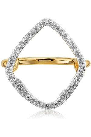 Monica Vinader Anillo GP Riva con diamantes