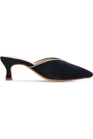 ZYNE | Mujer Zapatos Mules De Terciopelo Decorado 50mm 40