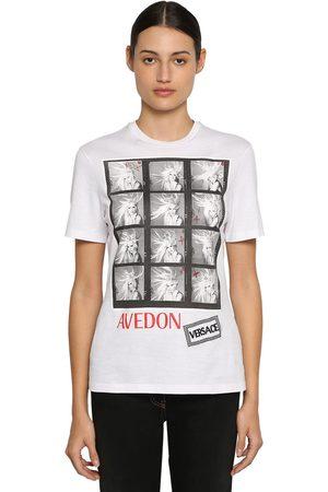 VERSACE | Mujer Camiseta De Jersey De Algodón Estampada Xs