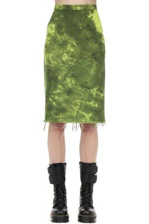 MARQUES'ALMEIDA | Mujer Falda Lápiz De Denim De Algodón Tie Dye 4