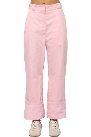 Loewe | Mujer Pantalones Cargo De Lona De Algodón 32