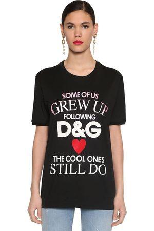 Dolce & Gabbana Mujer Manga corta - Printed Cotton Jersey T-shirt