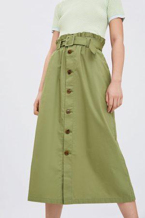 Zara Falda botones cinturón