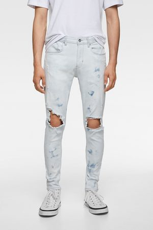 Zara Hombre Pitillos - Jeans skinny rotos salpicaduras
