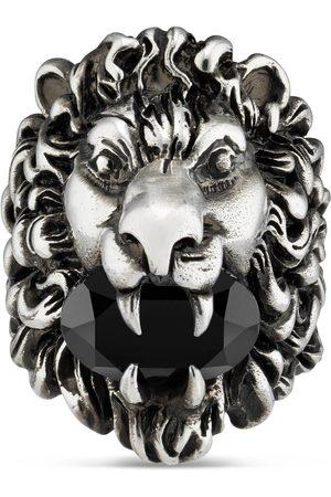 Gucci Hombre Anillos - Anillo con Cabeza de León con Cristal