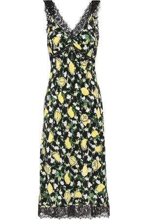 Diane von Furstenberg Vestido midi Issey de seda