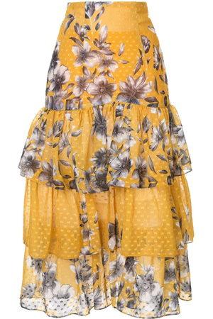 Bambah Falda con motivo floral con volantes