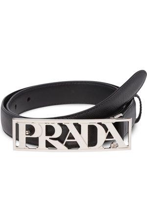 Prada Cinturón con hebilla metalizada