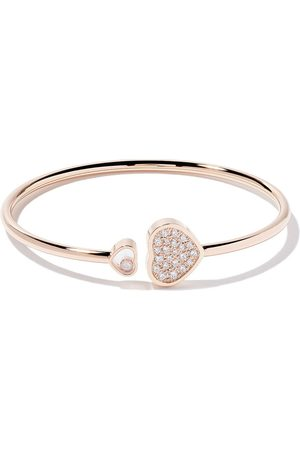 Chopard Pulsera Happy Hearts con diamantes en oro rosa 18kt