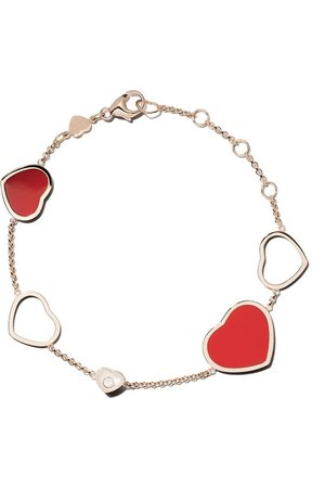 Chopard Pulsera Happy Hearts con diamante en oro rosa 18kt