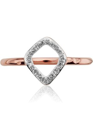 Monica Vinader Anillo RP Riva Kite con diamantes