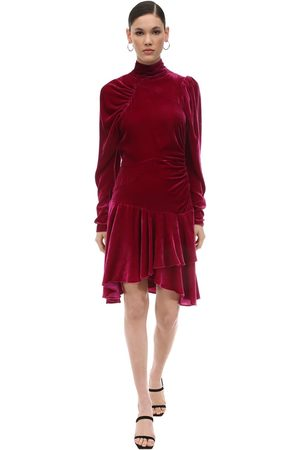 ROTATE | Mujer Vestido Mini De Terciopelo Drapeado 34