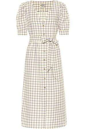 Baum und Pferdgarten Exclusivo en Mytheresa - vestido midi Alma de algodón de cuadros