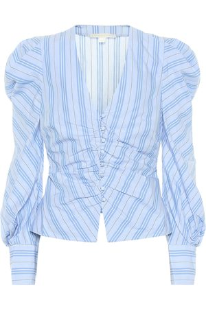 JONATHAN SIMKHAI Camisa de algodón de rayas