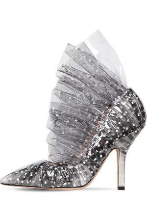 Midnight 00 | Mujer Zapatos Pumps De Plexi Y Tul 105mm /negro 39.5