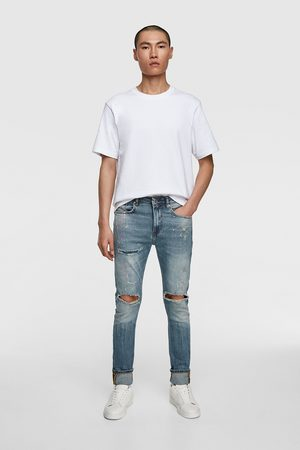 Zara Hombre Pitillos - Jeans skinny salpicaduras