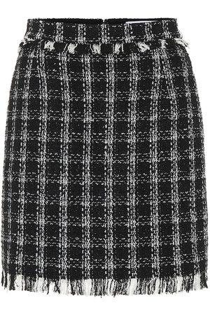 Msgm Minifalda de tweed de algodón