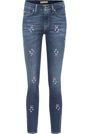 7 for all Mankind Jeans skinny Roxanne de tiro medio