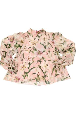 Dolce & Gabbana | Niña Camisa De Organza De Seda Estampada 8a