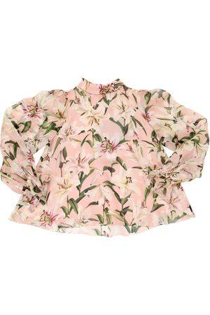 Dolce & Gabbana Niña Estampadas - Camisa De Organza De Seda Estampada