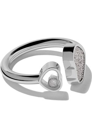 Chopard Anillo Happy Hearts con diamantes en oro blanco 18kt
