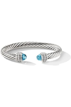 David Yurman Pulsera Cable con detalle de topacio y diamante