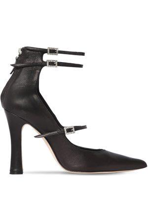 """Alessandra Rich Zapatos Pumps """"mary Jane"""" De Piel 105mm"""