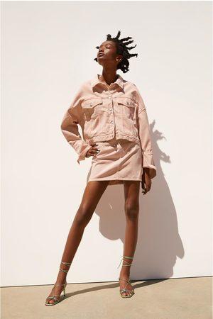 Zara Mujer Minifaldas - Falda mini color