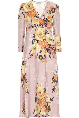 Etro Vestido en mezcla de seda floral