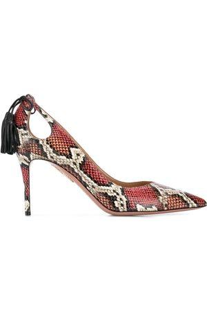 Aquazzura Zapatos de tacón Forever marilyn 85 con efecto de piel de pitón