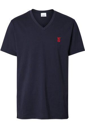 Burberry Camiseta con motivo de monograma y cuello en V