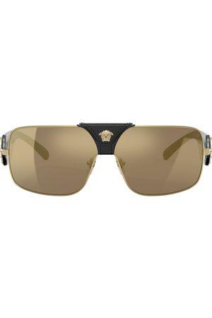 VERSACE Gafas de sol con montura rectangular