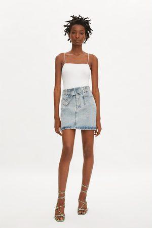 Zara Falda mini denim cinturón