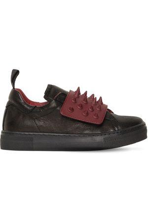 AM 66 | Niño Sneakers De Piel Con Picos /burdeos 27