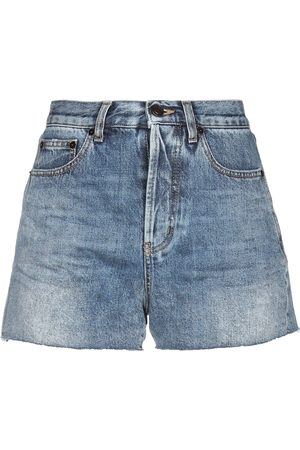Saint Laurent Shorts vaqueros