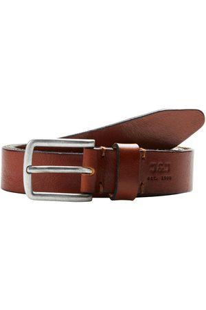 Jack & Jones Leather Belt Men Brown