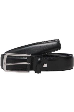 Jack & Jones Clean-cut Leather Belt Men Black