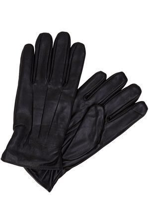 Jack & Jones Leather Gloves Men Black