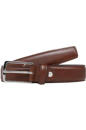 Jack & Jones Clean-cut Leather Belt Men Brown